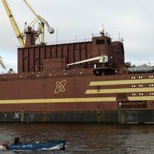 """Misija: keistos paskirties, bet neišvaizdus laivas-atominė elektrinė """"Akademic Lomonosov""""."""