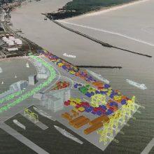 Planas: matosi, kaip keistųsi dabartinio uosto vartai atsiradus išoriniam uostui.
