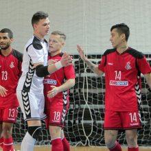 """Lietuvos salės futbolo čempionato finalas prasidėjo """"Vyčio"""" pergale"""