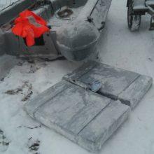 Sulaikytas dar vienas po ledo lytimi plukdytas cigarečių krovinys