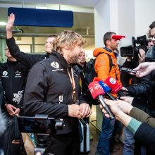 Į Lietuvą grįžęs B. Vanagas: lubos tikrai dar nepasiektos