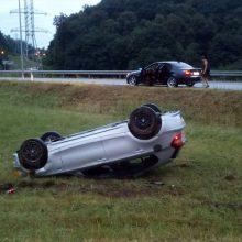 Joninių naktį – BMW avarija