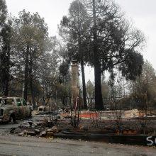 Gaisrų Kalifornijoje aukų padaugėjo iki 86