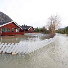 Norvegijoje potvyniai privertė daugiau kaip 100 žmonių palikti savo namus