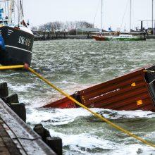 Šiaurės jūroje per audrą pamestų konteinerių yra daugiau nei manyta
