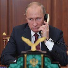 V. Putinas pirmąkart tiesiogiai kalbėjosi su Ukrainos separatistų lyderiais