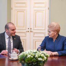 D. Grybauskaitė: Lietuva buvo, yra ir bus artima Sakartvelo draugė