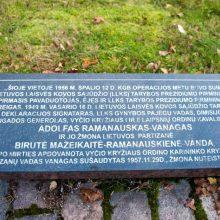 Svarstoma atnaujinti A. Ramanauskui-Vanagui skirtą monumentą