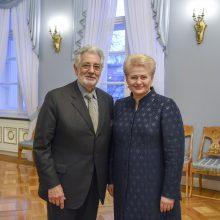 Prezidentė susitiko su operos karaliumi P. Domingo