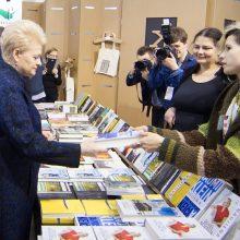 Prezidentė: Vilniaus knygų mugė į pasaulį atveria daugybę langų