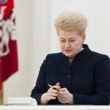 Prezidentė paskyrė dvi Apeliacinio teismo teisėjas