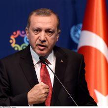 Turkijos prezidentas lieps įšaldyti dviejų JAV administracijos pareigūnų aktyvus