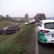 Netoli Vilniaus kaktomuša susidūrė du automobiliai