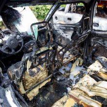 Radviliškio rajone vyras įtariamas pavogęs ir sudeginęs automobilį
