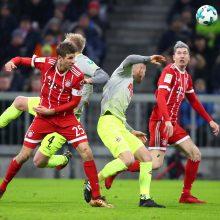"""Bundeslyga: R. Lewandowskis atnešė dar vieną pergalę """"Bayern"""""""
