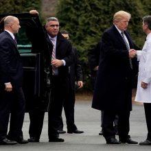 Baltieji rūmai: JAV prezidento D. Trumpo sveikata puiki