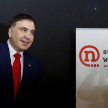 M. Saakašvilis: tebesu Ukrainos politikas