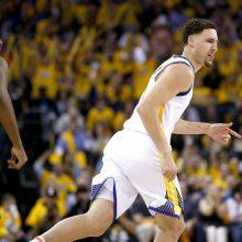 """""""Warriors"""" krepšininkai pergale pradėjo Vakarų konferencijos pusfinalio seriją"""