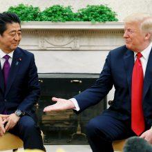 D. Trumpas susitiko su Japonijos premjeru