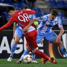 """Trys C. Immobile įvarčiai atvedė """"Lazio"""" klubą į Europos lygos aštuntfinalį"""