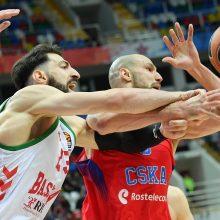 """CSKA ir """"Fenerbahče"""" pergalingai pradėjo Eurolygos ketvirtfinalį"""