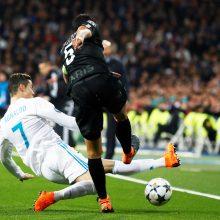"""Čempionų lygos aštuntfinalyje """"Real"""" įveikė """"Paris Saint-Germain"""" ekipą"""