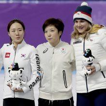 Pjongčango žaidynių auksas – olimpinį rekordą pagerinusiai japonei N. Kodairai
