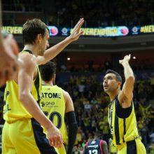 """""""Fenerbahce"""" krepšininkai Eurolygos ketvirtfinalyje iškovojo antrąją pergalę"""