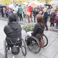 Neįgaliųjų galimybės mieste didėja