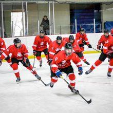 Jaunieji Lietuvos ledo ritulininkai įtikinamai nugalėjo svečius iš Baltarusijos