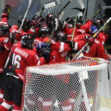 Trečia pergalė iš eilės – Lietuvos U-18 ledo ritulio rinktinė palaužė Korėją