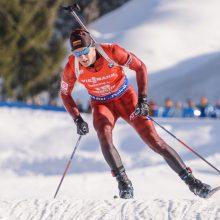 Biatlonininkas T. Kaukėnas pasaulio taurės varžybose Švedijoje –  54-as