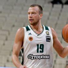 """L. Lekavičius svariai prisidėjo prie sėkmingo """"Panathinaikos"""" pusfinalio starto"""
