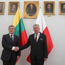 Lietuva ir Lenkija ketina glaudžiau bendradarbiauti saugumo srityje