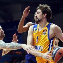 """A. Švedas pelnė 34 taškus, tačiau """"Chimki"""" neprilygo """"Olympiakos"""" krepšininkams"""