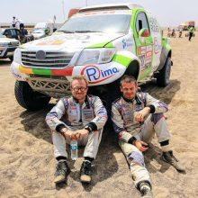 V. Žala ir S. Jurgelėnas Dakaro ralyje užėmė 12-ąją vietą