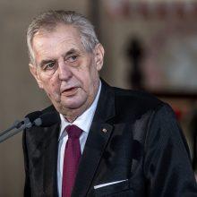 M. Zemanas inauguruotas antrai Čekijos prezidento kadencijai