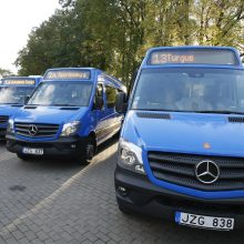 Mažieji autobusai į gatves išriedės jau pirmadienį
