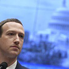 M. Zuckerbergas: socialinių tinklų veiklos reglamentavimas yra neišvengiamas