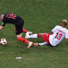 Kroatijos futbolininkai po 11 m baudinių serijos palaužė danus