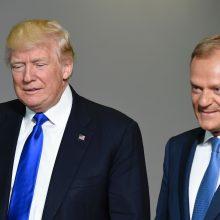 Donaldas Tuskas <span style=color:red;>(dešinėje)</span> ir Donaldas Trumpas <span style=color:red;>(kairėje)</span>