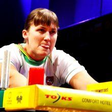 Pasaulio rankų lenkimo čempionate E.Vaitkutė iškovojo aukso medalį