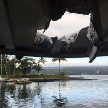 Havajuose ugnikalnio lavos bomba pataikė į laivą ir sužeidė 23 žmones