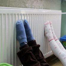 Šildymą išjungė ir darželiuose