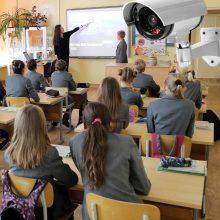 Į klases – vaizdo kameras?