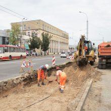 Sostinės Švitrigailos gatvė tvarkoma pagal naują specialią technologiją