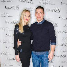 Simona Dainė su vyru Evaldu Dainium