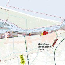 Sprendimas: pagal uosto bendrąjį planą didžiausia plėtra numatyta uosto šiaurinėje ir pietinėje dalyse.