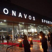 Iškilmingai atidaryta nauja Jonavos sporto arena