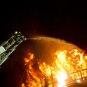 Kauno rajone degė medienos perdirbimo įmonė